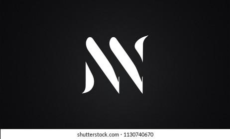 NN Letter  logo Design Template Vector