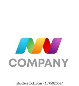nn logo icon design template sign