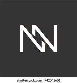 NN logo initial letter design template vector