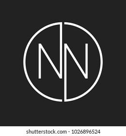 NN minimal logo design