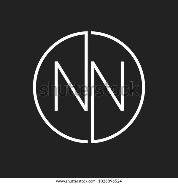 Nn Minimal Logo Design Stock V...