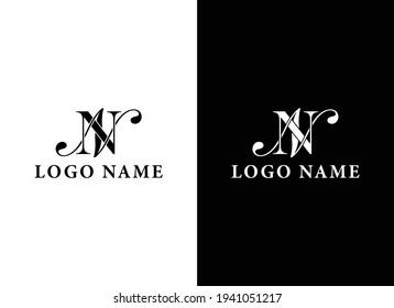 NN minimal logo, NN fashion logo, NN clothing logo, NN apparel logo