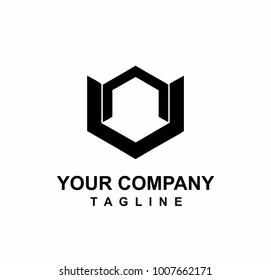 nn, vv, nv initials letter logo