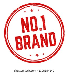No. 1 brand sign or stamp on white background, vector illustration