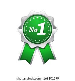 No 1 Green Seal vector Icon