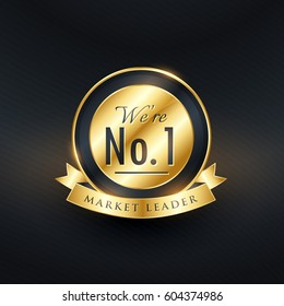 No. 1 market leader golden label and badge design