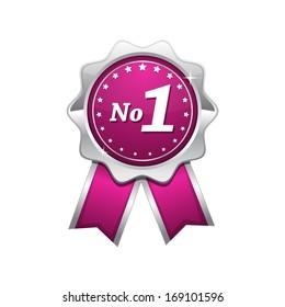 No 1 Pink Seal vector Icon