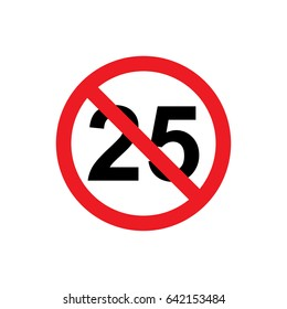 No 25 years icon illustration isolated vector sign symbol