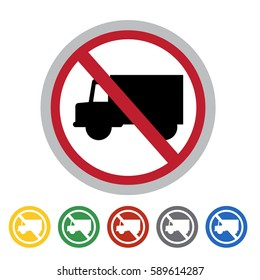 No access to truck icon set.Vector illustration