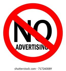 No advertising sign