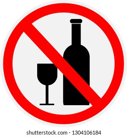 no, alcohol, drink, drinking, sign, vector, icon, ban, illustration, allowed, background, white, isolated, forbidden, prohibited, symbol, alcoholic, silhouette, label, warning,no drinking allowed