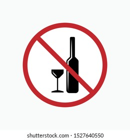No Alcohol Icon - Vector, Sign and Symbol for Design, Presentation, Website or Apps Elements.