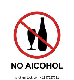 no alcohol sing design vector illustration