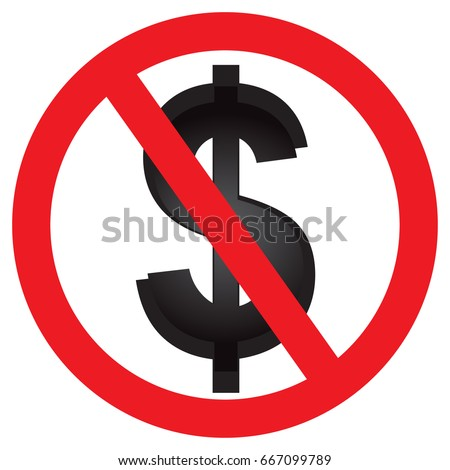 No American Dollar Currency Dollar Symbol Stock Vector Royalty Free