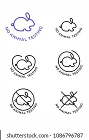 NO ANIMAL TESTING LOGO