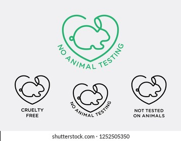 NO ANIMAL TESTING LOGO, ANIMAL LOVER, CRUELTY FREE, NO MEAT, ORGANIC, VEGETARIAN, VEGAN, RABBIT