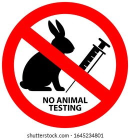 No animal testing vector sign isolated on white background