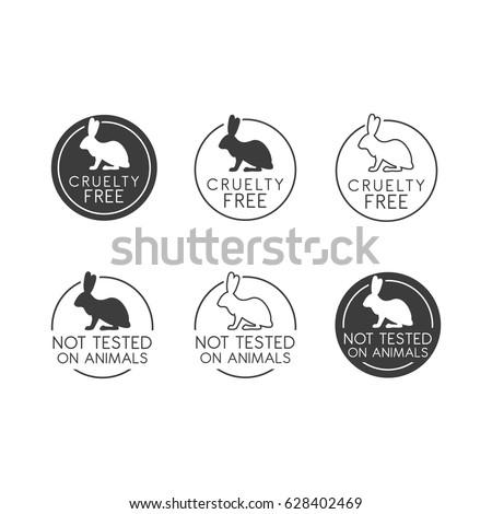 No Animals Testing Icon Design Animal Stock Vector Royalty Free