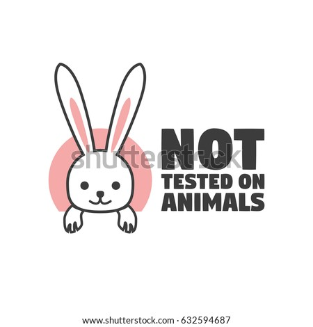 No Animals Testing Icon Design Symbol Stock Vector Royalty Free