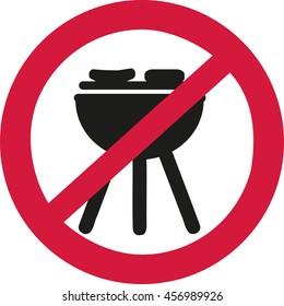 No bbq allowed - ban sign