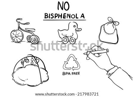 No Bisphenol A Bpa Vector Whiteboard Stock Vector Royalty Free