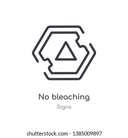 no bleaching outline icon. isolated line vector illustration from signs collection. editable thin stroke no bleaching icon on white background