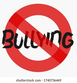 No Bullying (Flat Style Vector Illustration Concept Design)