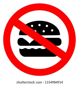 No burger vector sign on white background