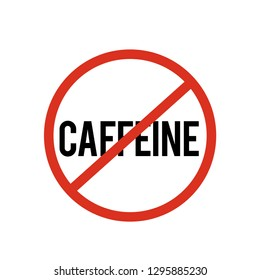 No caffeine  icon vector. No caffeine symbol. Linear style sign for mobile concept and web design. No caffeine symbol illustration. Pixel vector graphics - Vector.