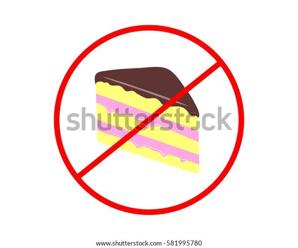 No Cake sign