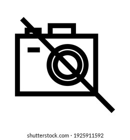 no camera icon or logo isolated sign symbol vector illustration - high quality black style vector icons