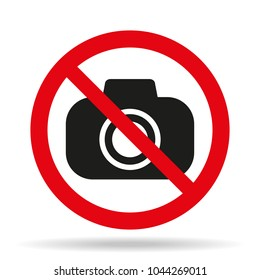 no camera icon on white background. Vector illustration