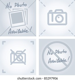"""no camera or photo sign as """"no image available""""  picture"""