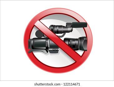 No camera sign. Vector