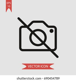 No camera vector icon, illustration symbol