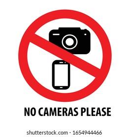 No cameras please vector design