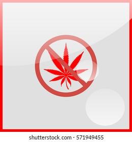 No cannabis, drugs free, symbolic illustration.