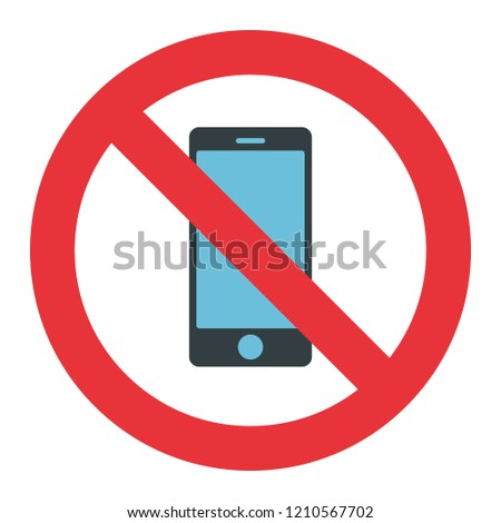 no cellphone use sign