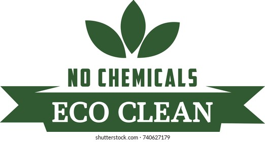 No Chemicals Eco Clean Icon