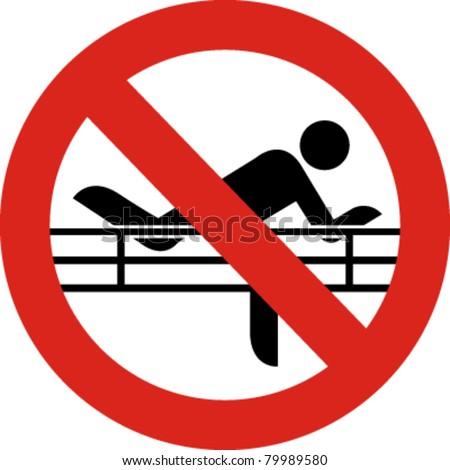 No Climbing Sign Vector Stock Vector (Royalty Free ...