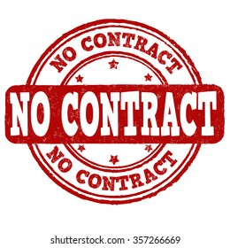 No contract grunge rubber stamp over a white background, vector illustration