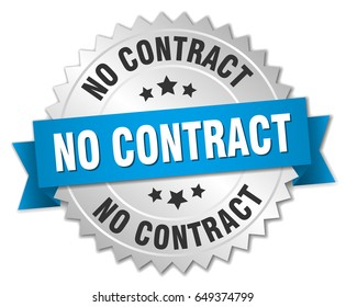 no contract round isolated silver badge