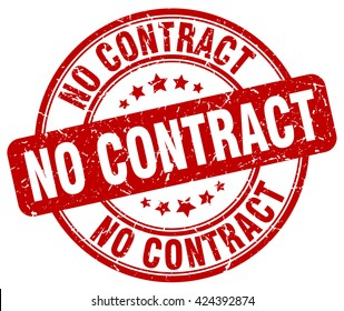 no contract. stamp