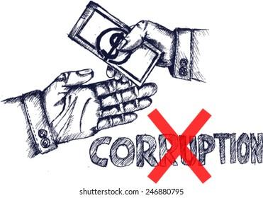 no corruption, sketch