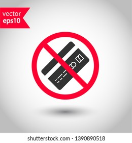 No credit card icon. Prohibited credit card vector icon. Forbidden payment icon. No card payment vector sign. Warning, caution, attention, restriction, danger flat sign design. EPS 10 symbol
