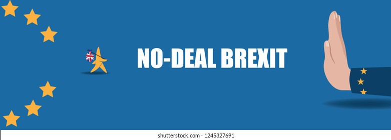 No deal Brexit design. Eps10 vector illustration.