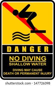 No diving and jumping