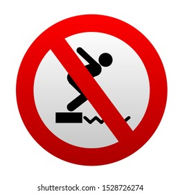 No diving sign. vector icon.
