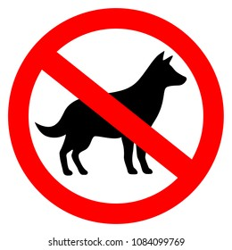 No dog allowed vector sign on white background