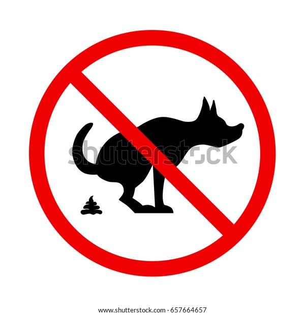 No Dog Poop Sign Shitting Not Stock Vector (Royalty Free
